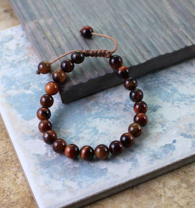 Jewelry,New Items,Tibetan Style Default Red Tiger Eye Wrist Mala wm0125