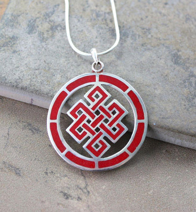 Jewelry,New Items,Tibetan Style Default Tibetan Circle Eternal Knot Pendant jp232