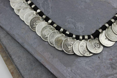 Jewelry,New Items,Tibetan Style,Men's Jewelry Default Solid Silver Mens Rupee Necklace jn153