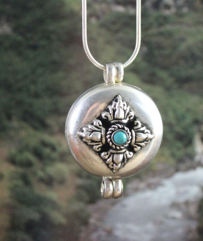 Jewelry,New Items,Under 35 Dollars Large Tibetan Dorje Gau Locket ga036