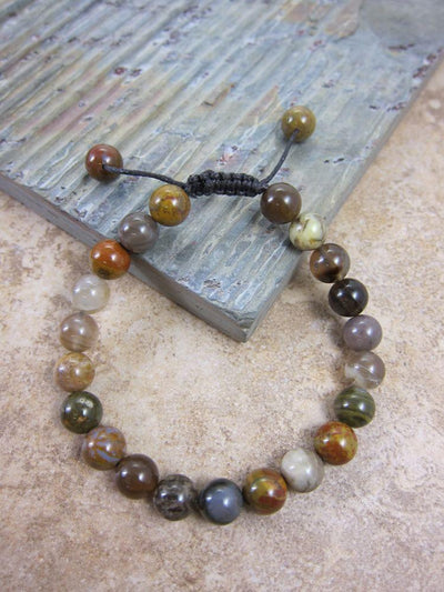 Jewelry,New Items,Under 35 Dollars,Tibetan Style Default Wooden Agate Wrist Mala wm087