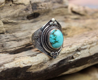 Jewelry,New Items,Women,Turquoise 6 Turquoise Dragon Ring JR025.6