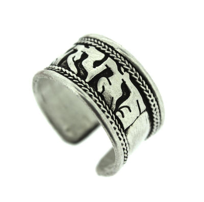 Jewelry,Om Default Tibetan Silver Plated Om Ring jr001