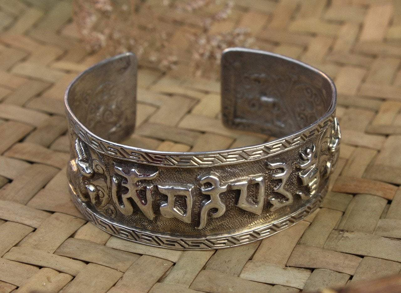 Jewelry,One of a Kind,New Items,Gifts,Om,Tibetan Style,Men's Jewelry,Men,Women Default Compassion Mantra With Deer Bracelet JB647