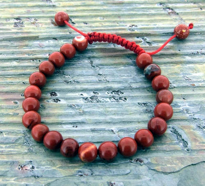 Jewelry,Tibetan Style Default Red Jasper 21 Bead Wrist mala wm0109