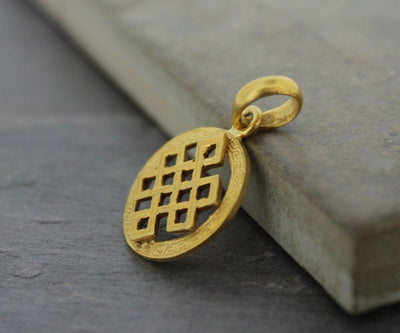 Jewelry,Tibetan Style,The Gold Collection Default Gold Tibetan Eternal Knot Pendant jp235