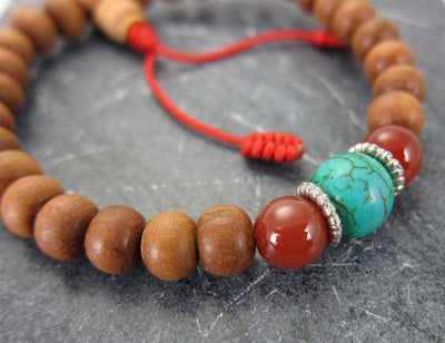 Jewelry,Under 35 Dollars Default Sandalwood Wrist Mala with Spacer Beads wm052