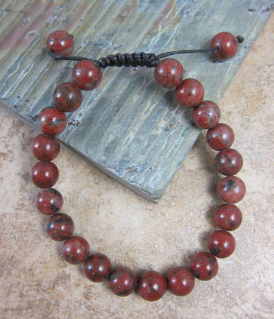 Jewelry,Under 35 Dollars,Tibetan Style Default Red Jasper Wrist mala wm085