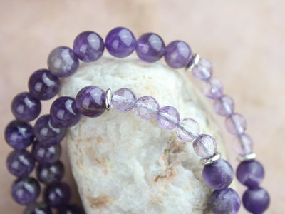 Mala Beads Amethyst Gemstone Meditation Mala ML585