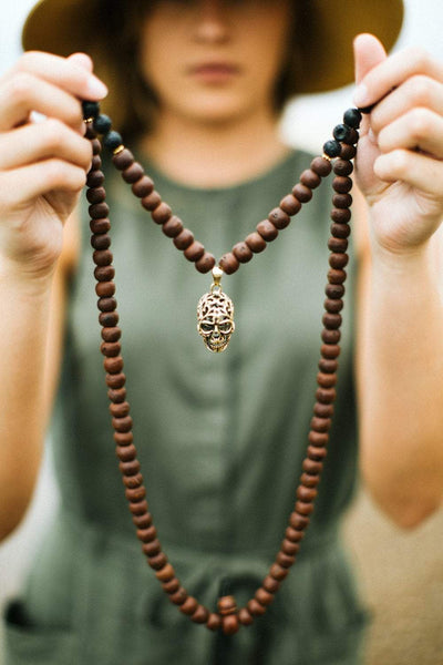 Mala Beads Bodhi and Lava Rock Impermanence Mala ML556