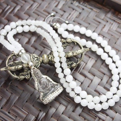 Mala Beads Calming Quartz Crystal Mala ML586