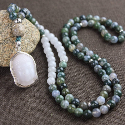 Mala Beads Continuous Prosperity Mala Necklace ML557