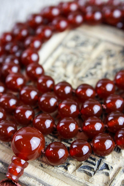 Mala Beads Creative Renewal Carnelian Mala Necklace ML519