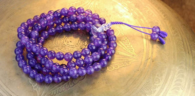 Mala Beads Default 108 Bead Amethyst Inspiration Mala ml082