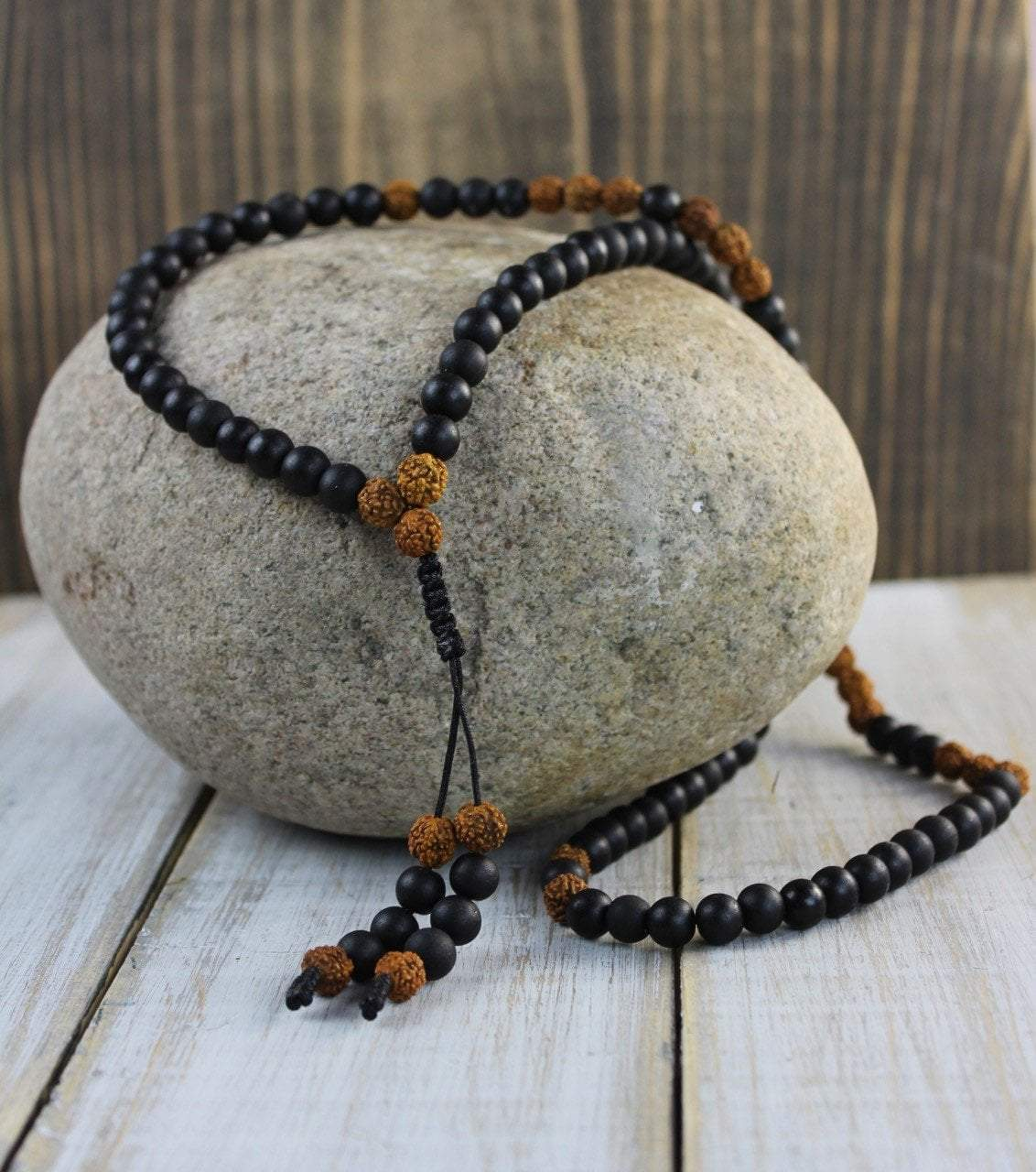 Mala Beads Default Age of Enlightenment Matte Onyx Mala ml492