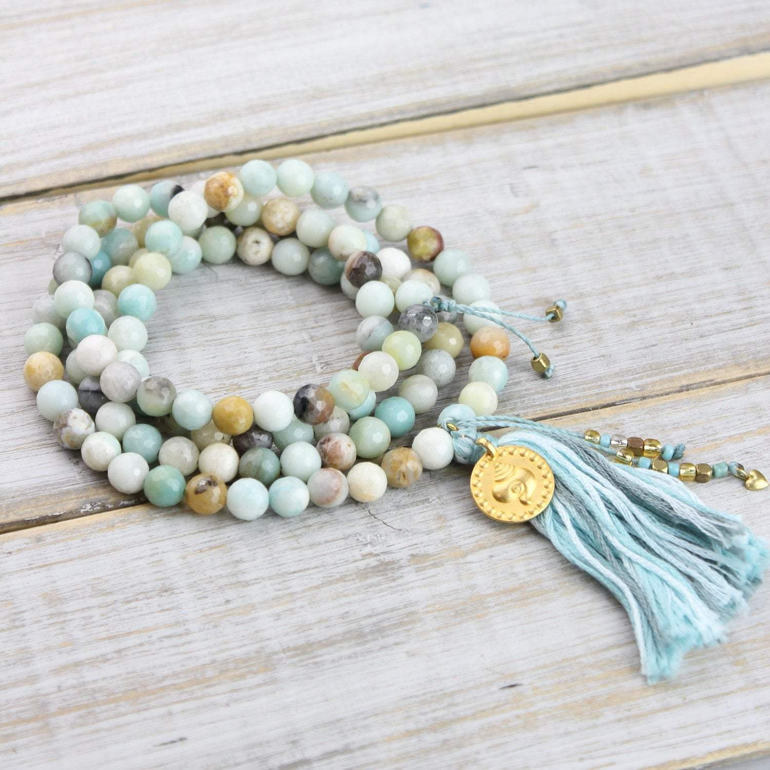 Mala Beads Default Aquatic Amazonite Mala ml455