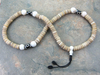 Mala Beads Default Bone and Naga Shell Mala ml083