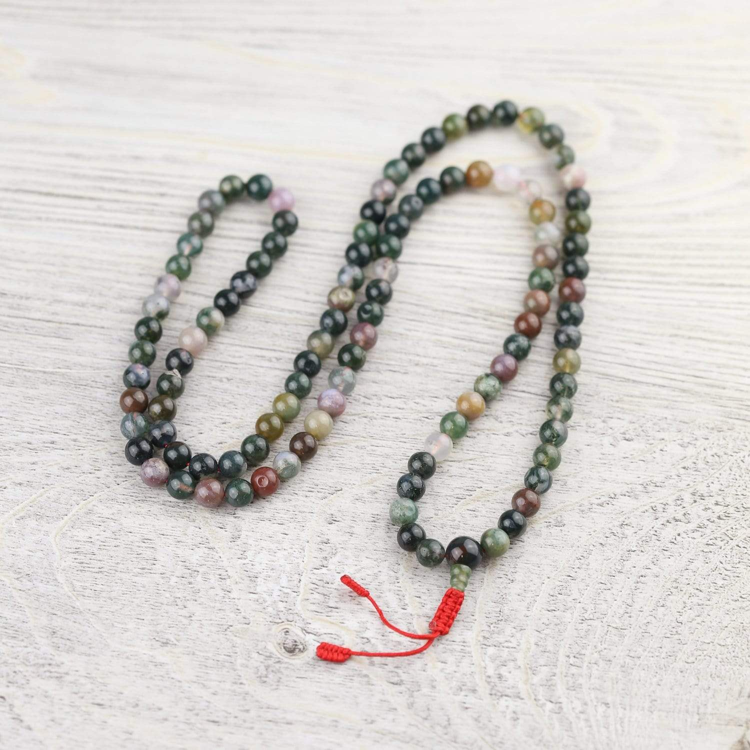 Mala Beads Default Fancy Jasper Tibetan 108 Bead Mala ml170
