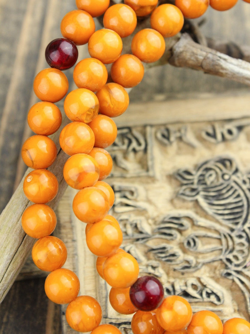 Mala Beads Default Imitation Amber Mala ml444