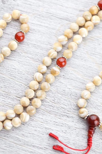 Mala Beads Default Mother of Pearl Tibetan Mala ml185