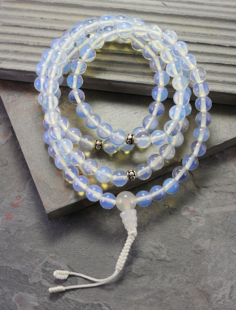 Mala Beads Default Opalite and Moonstone Mala Beads ml134