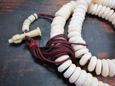 Mala Beads Default Polished Disc Bone Mala ml062