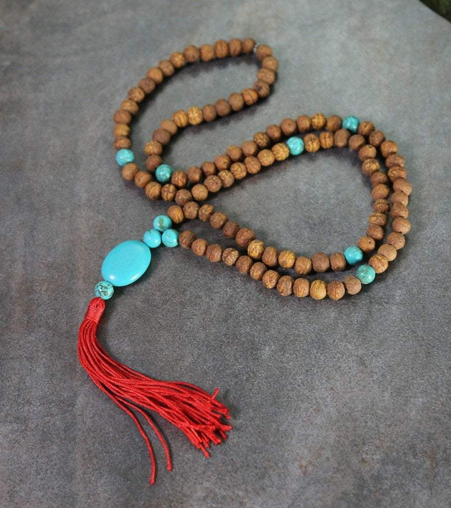 Mala Beads Default Raktu and Turquoise 108 Bead Mala ml213