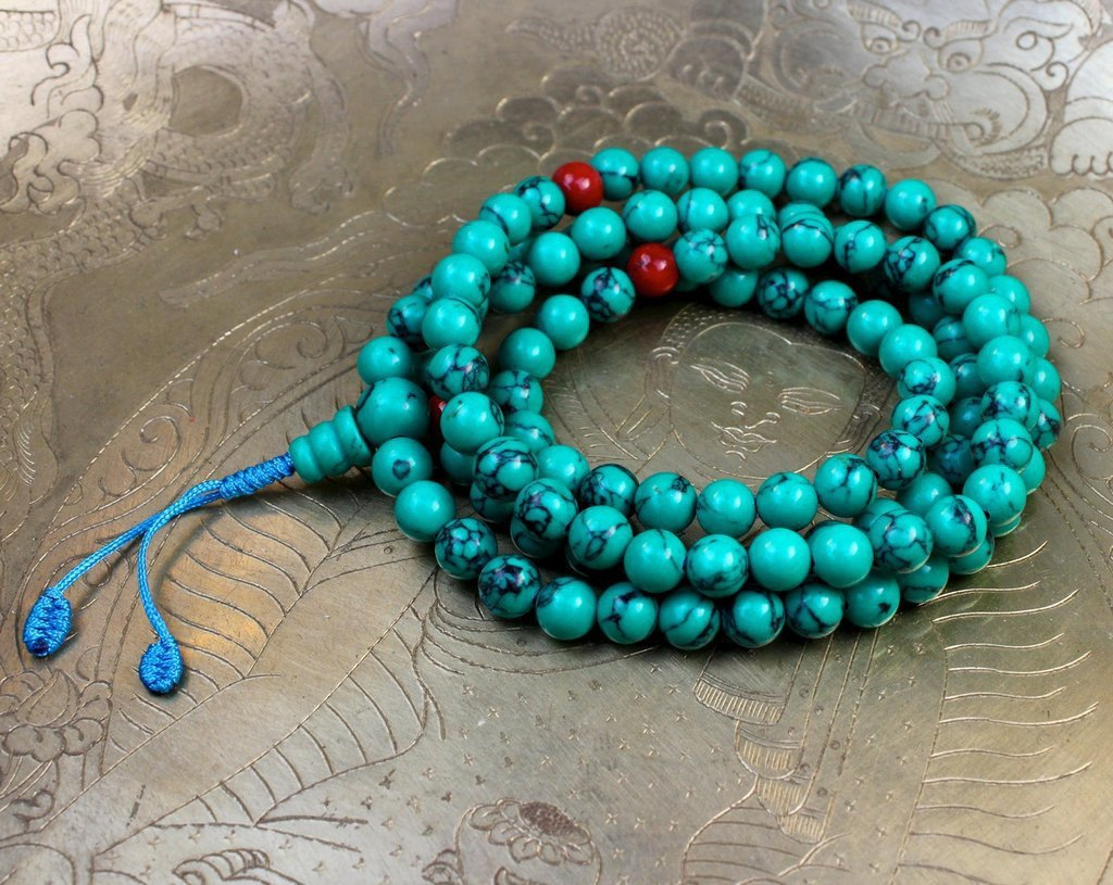Mala Beads Default Traditional Turquoise Mala ml447