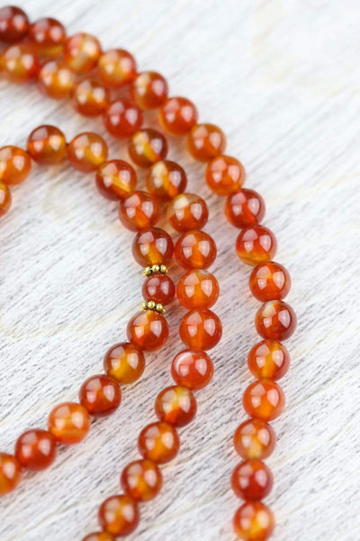 Mala Beads Endless Confidence Carnelian Mala ML722