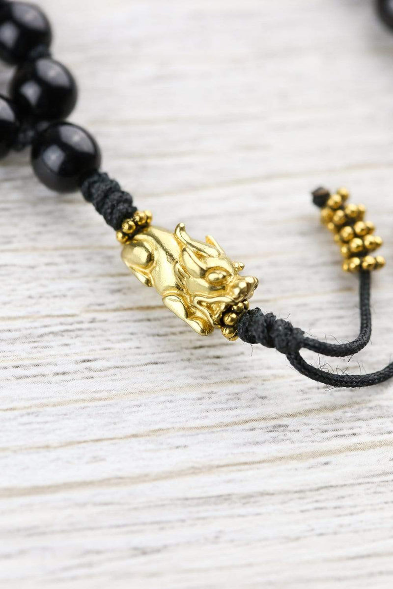 Mala Beads Golden Snow Lion Protection Mala ML719