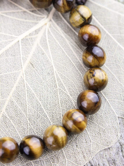 Mala Beads Grounding Tiger Eye Wrist Mala WM439