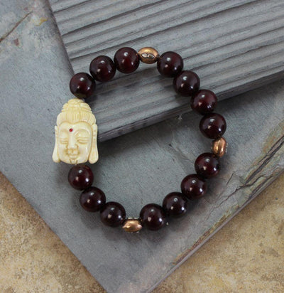 Mala Beads,Jewelry,New Items Default Hand Carved Bone Buddha Bracelet wm187