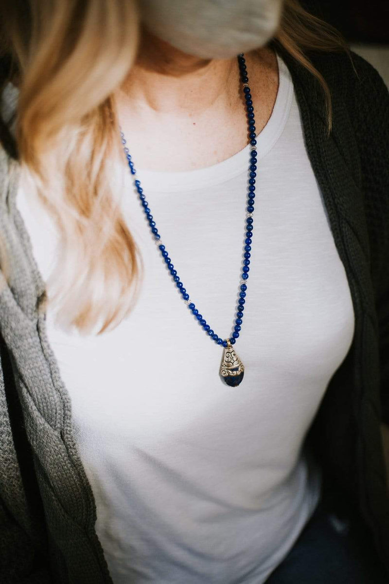 Mala Beads Lapis Enlightenment Mala ML733