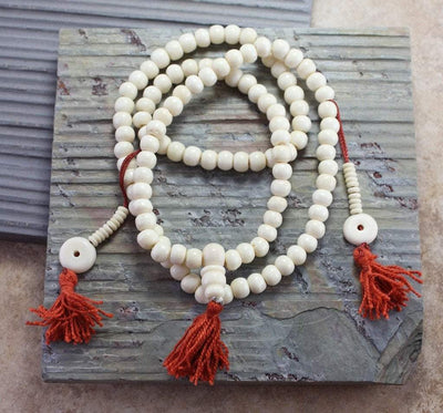 Mala Beads,Mala of the Day,Tibetan Style,Men's Jewelry Default Tibetan Bone Mala Beads With Silk Bag ml076