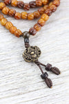 Mala Beads Mask of Protection Antique Mala ML752