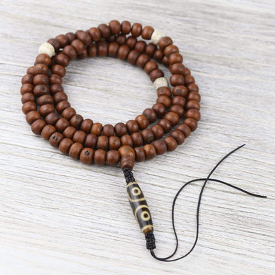 Mala Beads Miracle Bodhi and Dzi Mala ML716