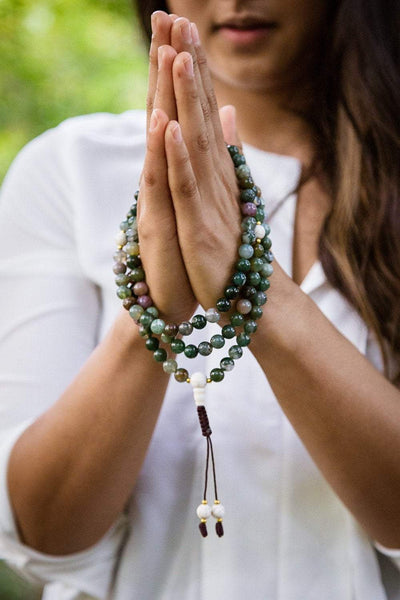 Mala Beads Moss Agate Strengthening Mala ML531