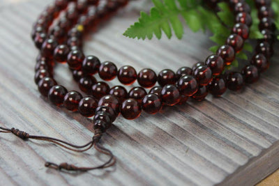 Mala Beads,New Items,Mala of the Day Default Baltic Amber 108 bead mala ml143