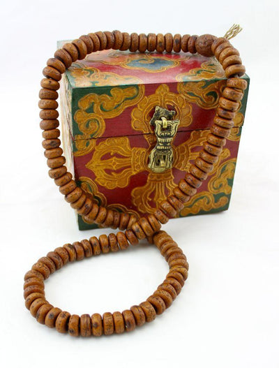 Mala Beads,New Items,Mala of the Day,Tibetan Style Default Flat Bodhi Seed Malas From Kathmandu ml106