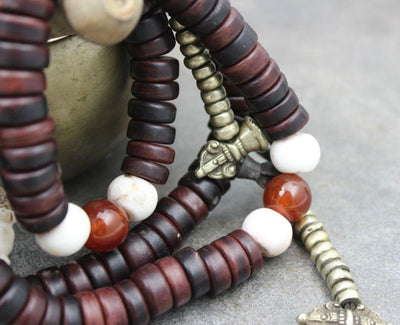 Mala Beads,New Items,Mala of the Day,Tibetan Style,Men's Jewelry Default Traditional Tibetan Nomad Bone mala ml144