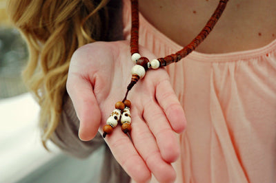 Mala Beads,New Items,Tibetan Style Default Cut Phoenix Eye Bodhi Seed Mala with Inlaid Spacers ml137
