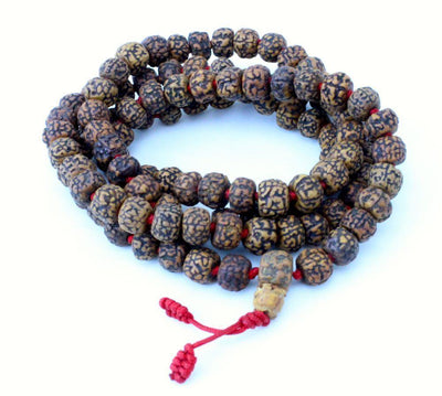 Mala Beads,New Items,Tibetan Style Default Hand Knotted Red Cord Rudrashka 108 Bead Mala ml120