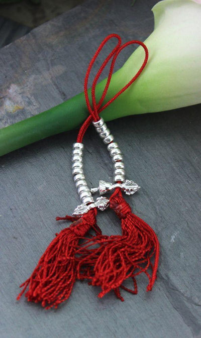 Mala Beads,New Items,Tibetan Style,Men's Jewelry Default Sterling Silver Mala Counters ml145