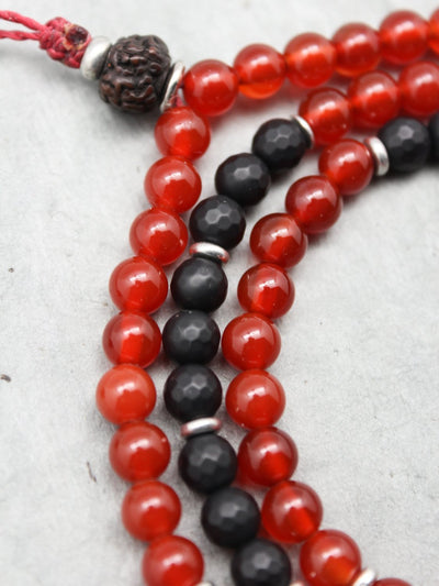 Mala Beads Positivity and Strength Tibetan Gau Mala ML645