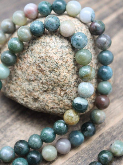 Mala Beads Powerful Moss Agate 108 Mala ML604