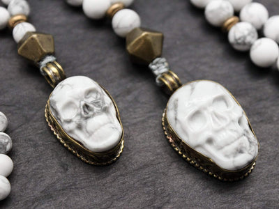 Mala Beads Small Reflection and Awareness Skull Mala ML602.SM