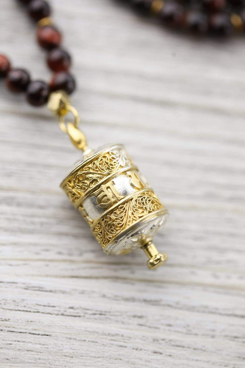 Mala Beads Spinning Prayer Wheel Mala ML754