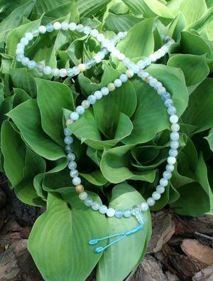 Mala Beads,Tibetan Style Default Aquamarine Mala beads ml046