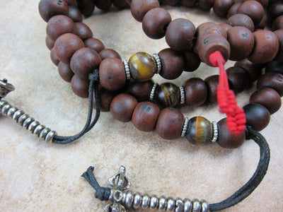 Mala Beads,Tibetan Style Default Bodhi Seed Tiger Eye Mala ml086