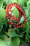 Mala Beads,Tibetan Style Default Carnelian and Aventurine Mala ml014